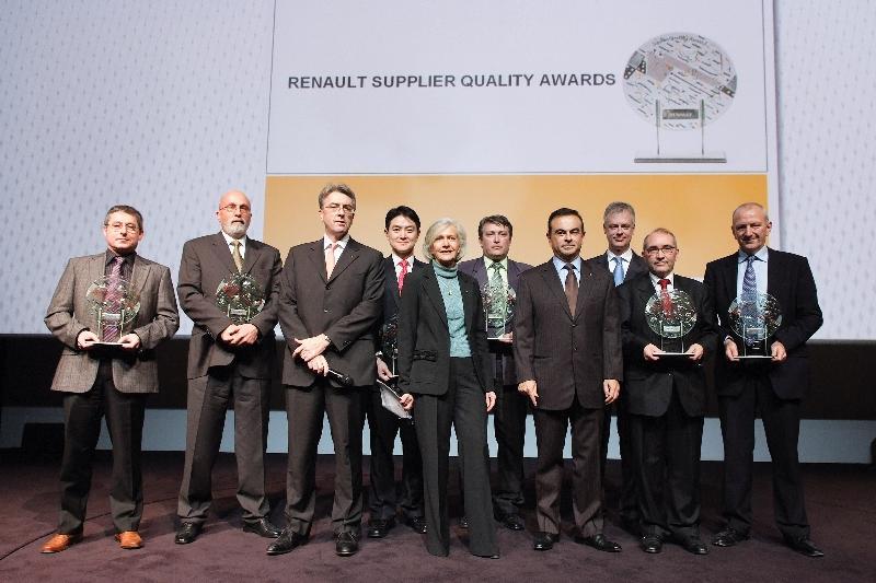 Renault récompense sept fournisseurs au cours de ses trophées qualité