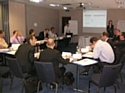 Guy Courtois, président de Factea Group et Isabelle Catry-Martin, directrice de Factea France, dispensant la formation le 9 juin dernier