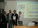 Les heureux lauréats et Olivier Bruel