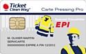 Carte EPI de Ticket Clean Way