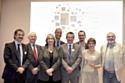 L'Esat STI, lauréat du Grand Prix en compagnie de Marie-Anne Montchamp et de représentants d'Air France
