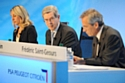 Présentation des résultats financiers semestriels 2011. Au centre, Philippe Varin, président du directoire de PSA Peugeot Citroën
