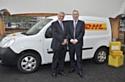 Michel Akadi, p-dg de DHL Express, avec François Guionnet, directeur général de Renault Parc Entreprises