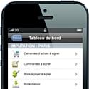 L'application mobile Oxa.Mobility permet de piloter le process achats depuis un smartphone ou une tablette