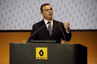 Carlos Ghosn, le p-dg de Renault, lors de la présentation des résultats du premier semestre 2008.
