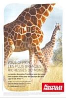 Pub signée  « Mégalo & Company » pour Nouvelles Frontières. La girafe porte le mot soldes à de nouvelles hauteurs !