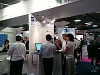 Présentation de Microsoft Dynamics AX au salon Solutions.