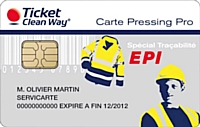 Carte EPI de Ticket Clean Way