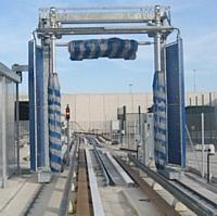 Site de lavage de la nouvelle ligne de métro automatique VAL de Roissy Charles de Gaulle
