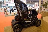 La Renault Twizy de Coursier.fr présentée sur le salon Bureaux Expo