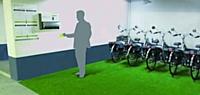 L'utilisateur accède directement au service de Green On grâce à une borne de gestion.