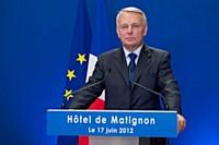 Le premier ministre Jean-Marc Ayrault lors du second tour des législatives le 17 juin 2012.