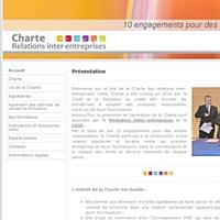 Un site internet dédié à la Charte des relations inter-entreprises