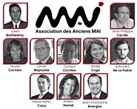 Organigramme de l'association des anciens du MAI de Bordeaux