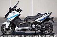 La brigade motocycliste de Saint-Laurent-du-Var a fait l'acquisition de deux Yamaha TMAX 530.