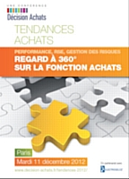 Décision Achats organise une conférence Regard à 360° sur la fonction Achats le 11 décembre à Paris.