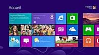 L'écran d'accueil de Windows 8