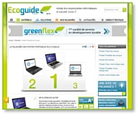 Greenflex a lancé l'Ecoguide IT