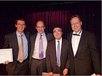 De gauche à droite : Hugues Poissonier, Michel Philippart, Olivier Bruel, Nicolas Kourim