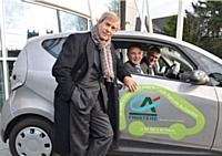 Les Bluecar sont destinées aux déplacements professionnels des salariés du Crédit Agricole du Finistère.