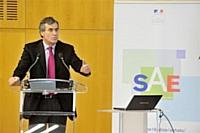 Jérôme Cahuzac, ministre du Budget, à la matinée Aïda du 22 février 2013.