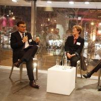 Club Lowendalmasaï : Olivier Duha (à gauche), Nicole Notat (à droite)
