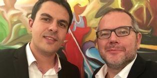 Olivier Wajnsztok, président de l'Association des anciens du MAI de Bordeaux (à dte) et David Blicq, trésorier de l'association (à gche)