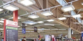 Carrefour Market teste une nouvelle solution d'éclairage hybride en collaboration avec Philips et Echy