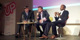 (de gauche à droite) Jean-Marc Borello (Groupe SOS), Thierry Sibieude (Essec) et Navi Radjou
