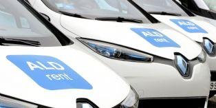 Renault Zoe proposées dans l'offre de location moyenne durée ALD Rent