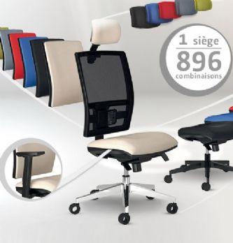Un siège de bureau totalement personnalisable