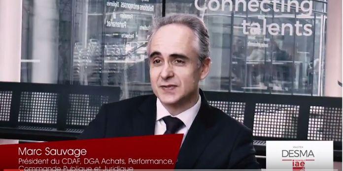 [Vidéo] 'Il faut associer le juridique, la commande publique et les achats pour rechercher de la performance' - Marc Sauvage (Conseil régional d'IDF)