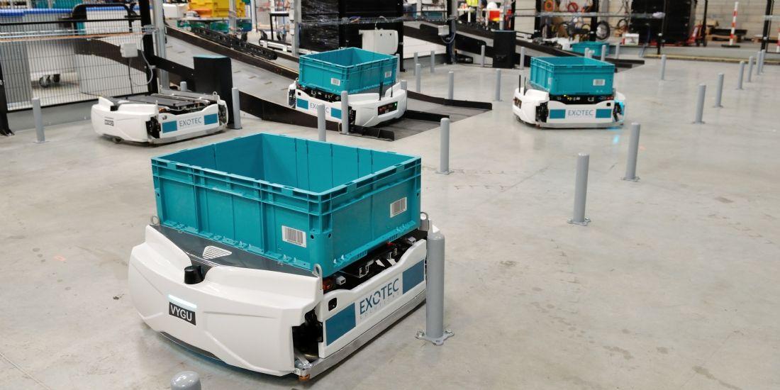 La start-up Exotec Solutions lève 15 millions d'euros pour révolutionner la logistique du e-commerce