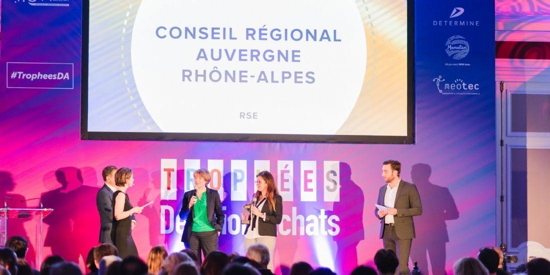 Trophées Décision Achats / CNA 2019: Le Conseil régional Auvergne-Rhône-Alpes remporte la catégorie 'RSE'