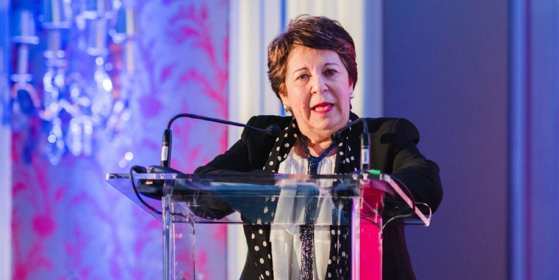 Corinne Lepage, lors de la keynote d'ouverture de la soirée de gala des Trophées Décision Achats / CNA